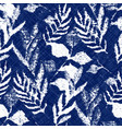 indigo cyanotype dyed effect worn navy pattern vector image