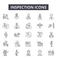 inspection line icons signs set linear vector image vector image