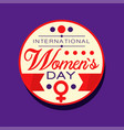 international women s day sticker or label 8 vector image