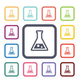 laboratory flat icons set vector image vector image