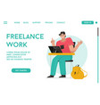 landing page freelance work concept vector image