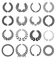 laurel wreath icons set vector image vector image
