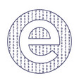 letter e technology icon vector image