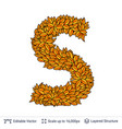 letter s sign of autumn leaves vector image