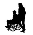 man in a wheelchair vector image