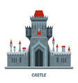medieval castle fortress or stone citadel palace vector image vector image