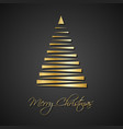 modern golden christmas trees on black background vector image