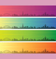 newcastle multiple color gradient skyline banner vector image vector image