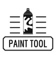 paint spray logo simple black style vector image vector image