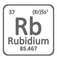 periodic table element rybidium icon vector image vector image