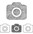 Photo icon set - sketch line art vector image vector image