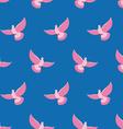Pink Pigeon Seamless pattern Pink bird is flying vector image vector image