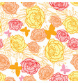 pink yellow orange leaves butterflies vector image vector image