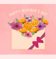 pretty happy mothers day greeting card design vector image vector image