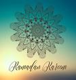 ramadan kareem backdrop vector image vector image