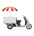 realistic food cart vector image