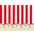 Red white theater circus curtain vector image vector image