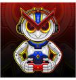 robotic gamer sport mascot logo design vector image vector image