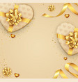 romantic background with bow and ribbon vector image