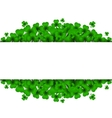 Saint Patricks Day Background with clover vector image vector image