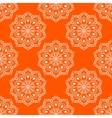 Seamless Mandala Pattern over orange vector image vector image