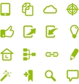 Set of bright green icons vector image