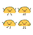 set with cartoon tacos vector image vector image