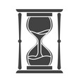 silhouette sand hourglass time leak concept design vector image