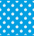 smile apple pattern seamless blue vector image vector image