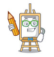 student easel character cartoon style vector image