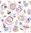 tea seamless pattern vector image vector image