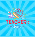 teachers day promo poster vector image vector image