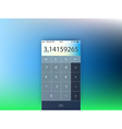 template of mobile calculator interface form vector image vector image