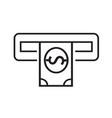 thin line atm icon design vector image