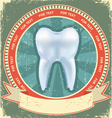 tooth label vector image vector image