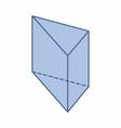 triangular prism vector image
