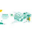 truck without trailer cargo transportation vector image vector image