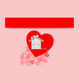 valentine day heart white concept design art vector image vector image