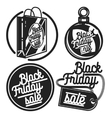 Vintage black friday sale emblems vector image vector image