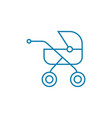 walking with child linear icon concept walking vector image vector image