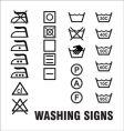 washing signs vector image vector image