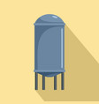 water tank icon flat style vector image vector image