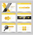 yellow presentation templates infographic design vector image