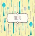 premium restaurant menu vector image