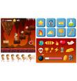adventure lava game template vector image