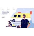 ambulance service paramedic nurses emergency vector image
