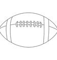 American football ball outline vector image vector image