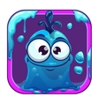 App icon with funny blue slimy monster vector image vector image