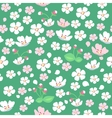 Apple Tree Flowers Seamless Pattern vector image