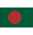 bangladesh paper flag vector image vector image